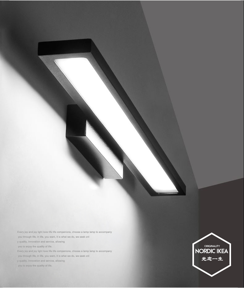 new modern 40cm 90cm led wall lamp bedroom headboard bedside lamp banheiro led bathroom light. Black Bedroom Furniture Sets. Home Design Ideas