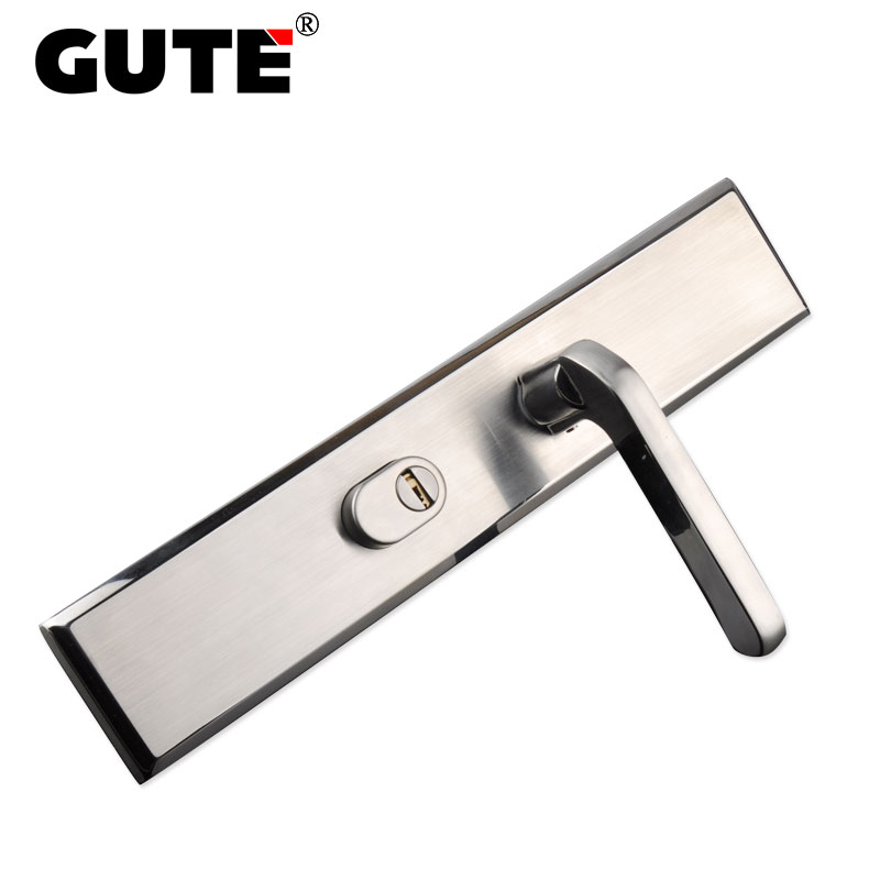 GUTE 304 Stainless Steel Front Door Lock Exterior Outdoor Door Lock Brushed  Nickel Different Cylinder Available Anti Theft In Door Locks From Home ...