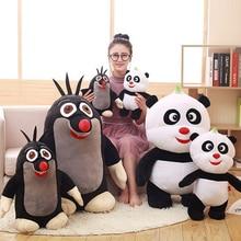 Fancytrader большая толстая Панда и крот, плюшевые игрушки 80 см, гигантские мягкие набивные из аниме, кукла с животными, подарки на день рождения р...