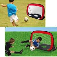 Soccer Goal Net 2 in 1 Pop Up Kids Soccer Goal Kids Football Net Children Soccer Target Indoor Outdoor Sports Football Gate