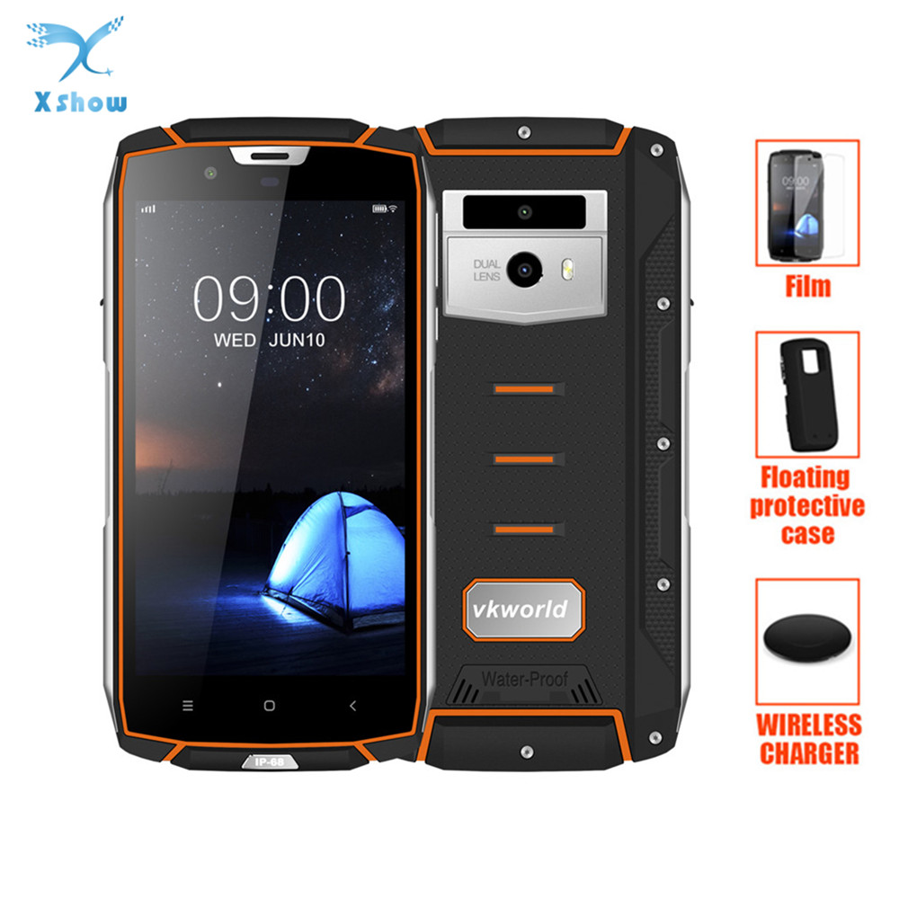 vkworld VK7000 IP68 Waterproof Smartphone 5 2 MTK6750T Fast Charge 5V 2A 5600mAh Android 8 0