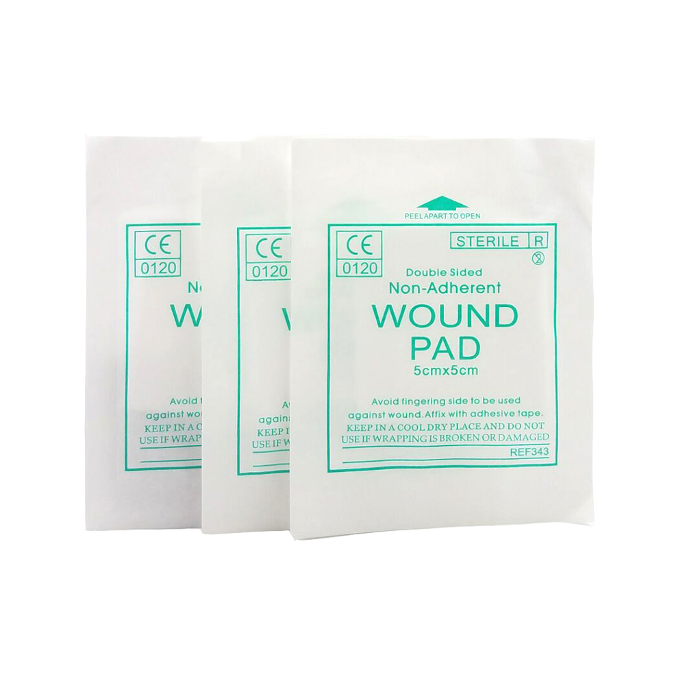 5*5CM Sterile Hemostasis Pad First Aid Kit Accessories Double Sided Non-Adherent Wound Pad First Aid Kit Dressing Medical Pads eichholtz емкость 10x10x13 см серебряная 9624 eichholtz