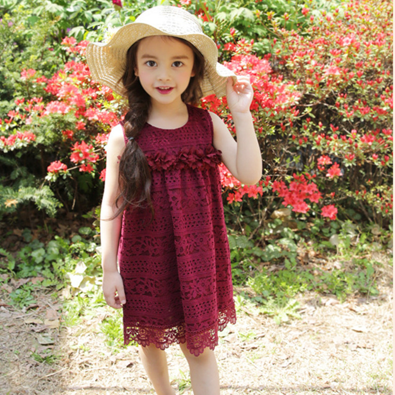 Summer Girls Dress 2017 Princess Style Lace Dresses For Girls Infant Floral Children Clothing New Design Costume Kids Clothes