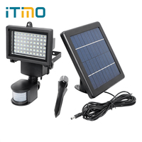 ITimo 60 LEDs High Quality Garden Lamp Patio Decoration Outdoor Wall Light PIR Motion Detector LED