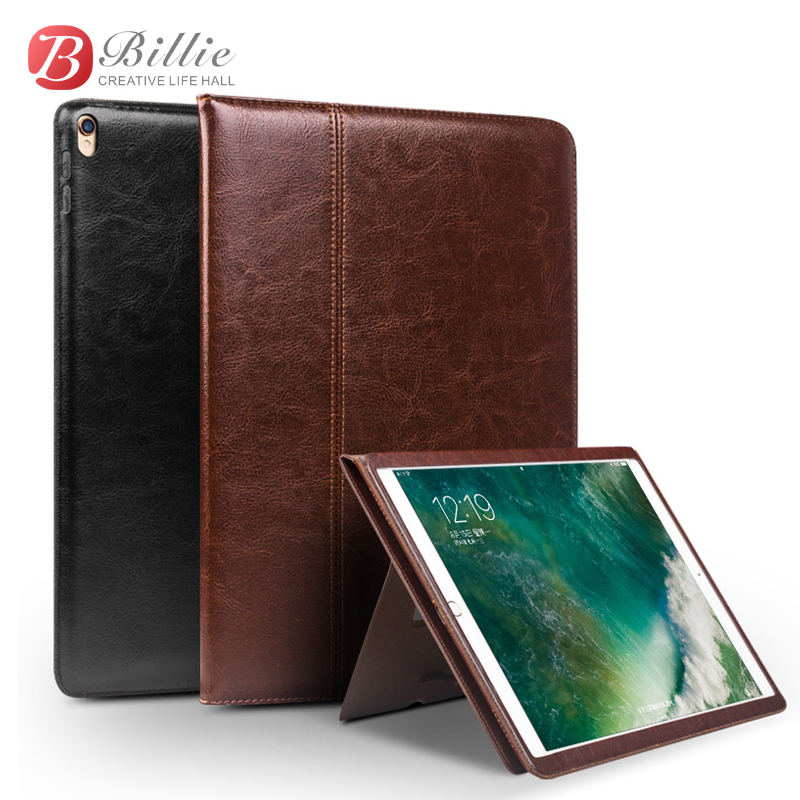 For iPad Pro 10.5 2017 Tablet Case Genuine Leather Flip Stents Dormancy Stand Cover for Funda iPad Pro 10.5 Wallet Cases Qialino seed dormancy and germination