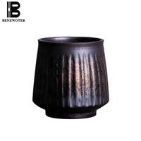 280ml Vintage Handmade Coarse Pottery Mug Japanese Coffee Mug Creative Retro Milk Breakfast Fruit Juice Cup Office Drinkware