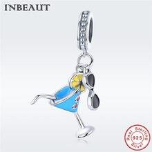 c621575eb Summer Black Glasses Charm Beads fit Pandora Bracelet Hot Sale 925 Sterling  Silver Blue Cup Lemon Pendant for Women Necklace