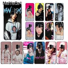 MaiYaCa lil xan Rapper Custom Photo Soft Phone Case for Samsung Galaxy S9 plus S7 edge S6 edge plus S5 S8 plus case(China)