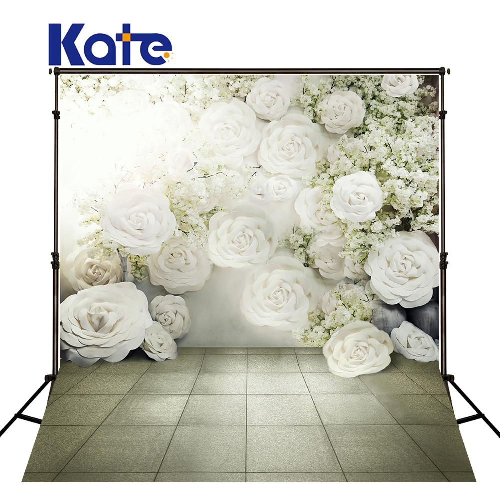 Kate De Mariage Décors Fleurs Romantique Photographie Milieux pour Photo Studio fond pano de fundo para estudio Fotografia
