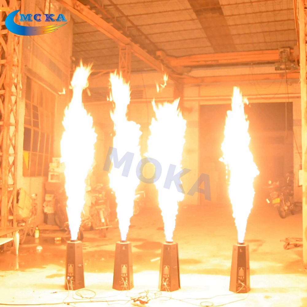 8pcs/lot Hot Stage Effect Fire Machine Professional Flame Projector Spray 1-3M Flame DMX Controlled