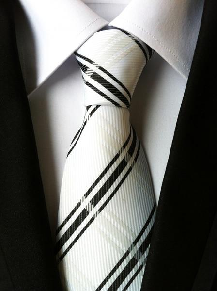 qxy vintage pánská kravata polyesterová hedvábná kravata šaty obchodní gravata pro muže kravaty pruhy ležérní oblek s kravatou BB