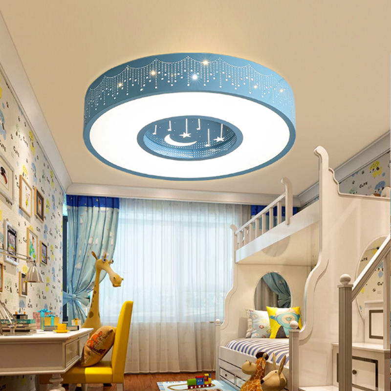 ZYY New Beautiful Sweety Stars Moon Creative Child Room Ceiling Light Color Bedroom Home Lighting DHL Free for Color Lamps creative star moon lampshade ceiling light 85 265v 24w led child baby room ceiling lamps foyer bedroom decoration lights