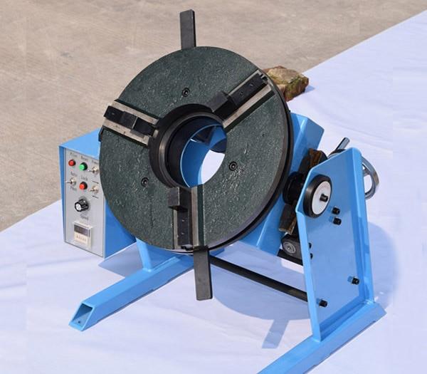 Posicionador de soldadura de placa giratoria HD-100 100KG con mandril manual de 200 mm WP-200