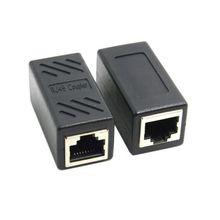 RJ45 konnektör dişi kadın Cat7/6/5e Ethernet adaptörü 8P8C ağ genişletici uzatma kablosu Ethernet kablosu