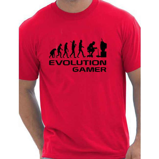 Evrim Bir Gamer PC Geek Hediye Komik Erkek T Shirt Daha Fazla Boyut ve Renkler pamuk avrupa boyutu