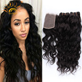 """Brazilian Water Wave Virgin Hair with Closure 4pcs Brazilian Hair Weave 4bundles with Closure Cheap Human Hair With Closure 4*4"""""""