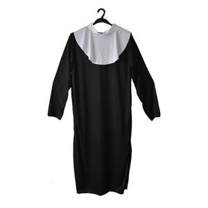 Image 2 - 여자 숙녀 성직자 수녀 코스프레 의상 드라마 선교사 의상 성인 드레스 파티 Purim Halloween Christmas