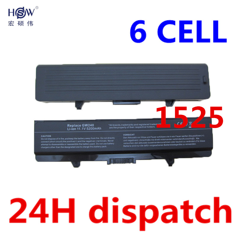 HSW 6cell Laptop Battery For Dell Inspiron 1525 1526 1545 1545 Vostro 500 CR693 D608H GP252 GP952 GW240 GW241 WK380 WK381 WP193