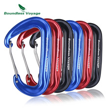 Boundless Voyage 12KN Aluminum Alloy Carabiner Clips Heavy Duty Locking Strong Climbing Hook for Hammocks Hiking Backpacking