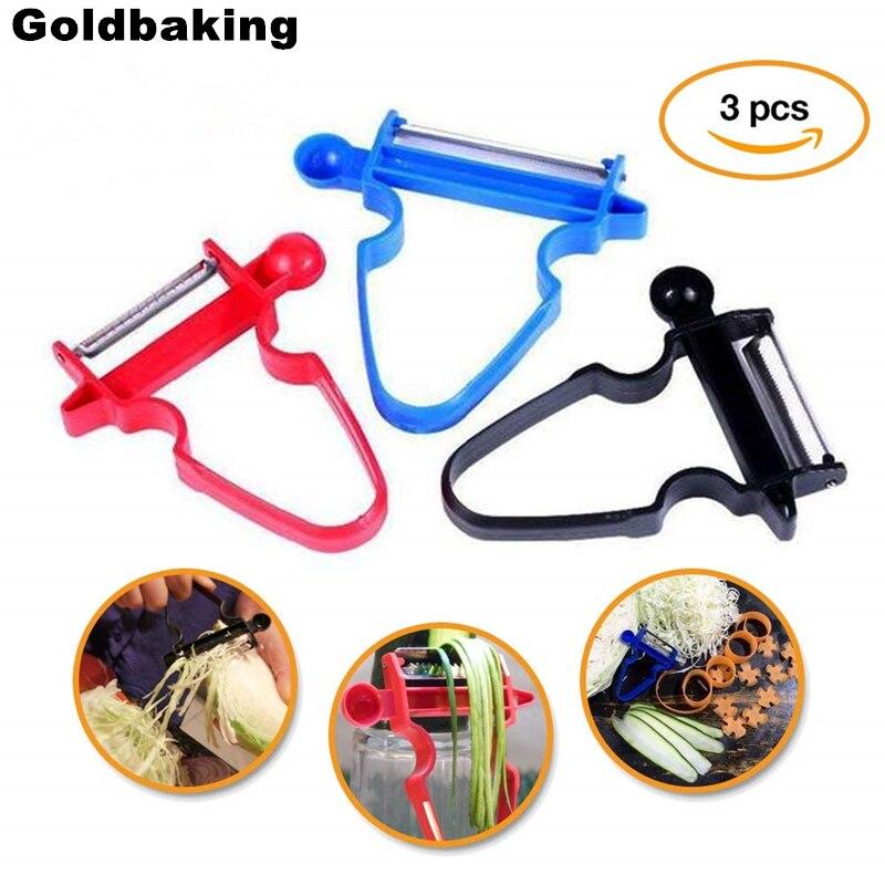3 Pieces Multifunction Peeler Set