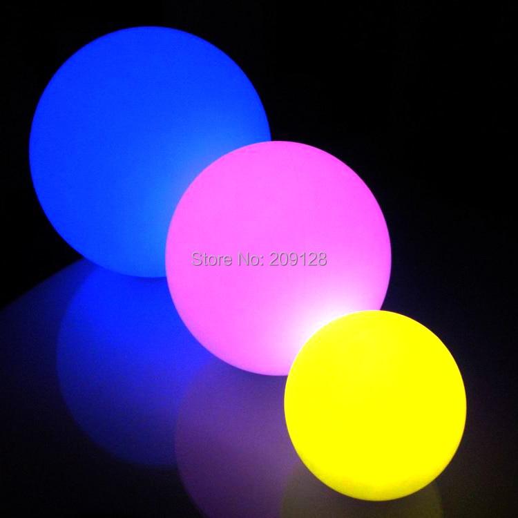 DHL gratis frakt 20cm fargerik ledet ball lys for fest dekorasjon - Ferie belysning - Bilde 3