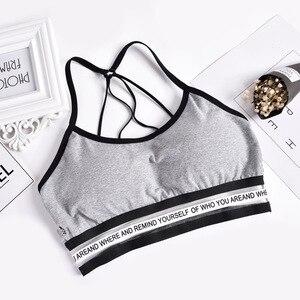 Image 4 - 2020 إمرأة مثير عادية سليم أكمام تانك القمم الصدرية بلون المحاصيل الأعلى للسيدات قميص لياقة بدنية النساء الملابس بلايز