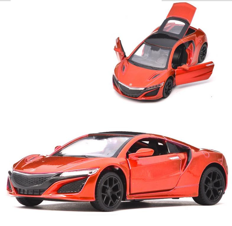 Super Sports Car Honda Acura 1:32 Scale Alloy Pull Back Car Model Diecast Metal Toy Vehicles Sound&light Free Shipping Wholesale Diversified In Packaging Toys & Hobbies