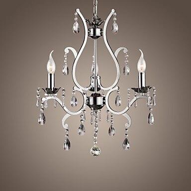 110V-220V Chandeliers LED Crystal Chandelier Lamps with 3 Lights in Metal, Lustres De Crystal,Lustre De cristal Free Shipping