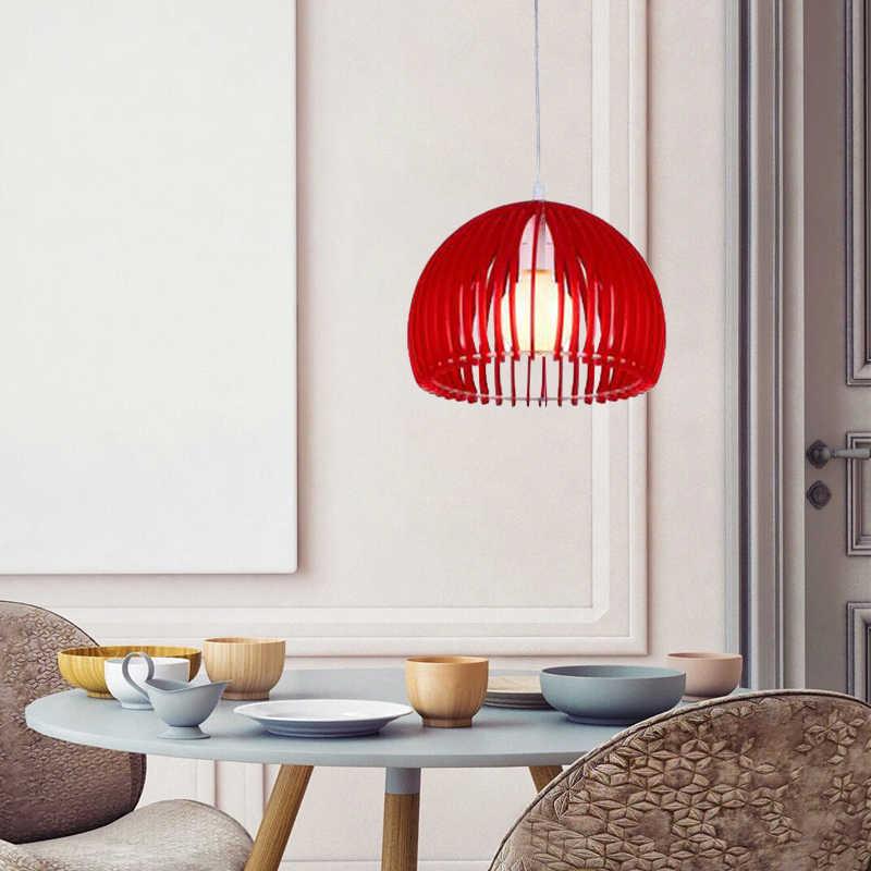 Акриловый современный минималистичный полукруглый E27 светодиодный декоративная подвеска лампы для столовой гостиной спальни ресторана прохода магазина