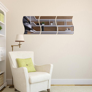 Image 2 - Yeni 3 PCS DIY Çıkarılabilir Ev Odası duvar aynası Sticker Sanat Vinil Duvar Dekor Duvar Sticker vinilos decorativos para paredes