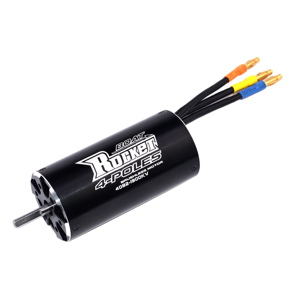 4082 1900KV Waterproof Brushless High Torque 4-pole Motor Replacement Parts Accessories Hardware for RC Boat