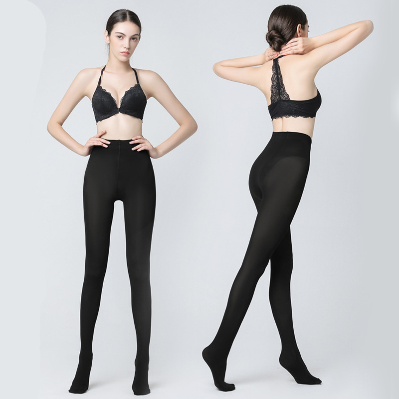 812b8ad72c4 1pcs Women 200D Thick Warm Tights Ladies Girl s Warm Nylon Pantyhose Sexy  Solid Color Black Elastic Pantyhose Stocking Hosiery-in Tights from  Underwear ...