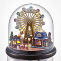 Engraçado Bola De Plástico DIY Modelo de Casa de Boneca Móveis casa de Bonecas Em Miniatura Feitos À Mão Kits de Construção, Casas de Boneca Miniaturas-Roda Feliz