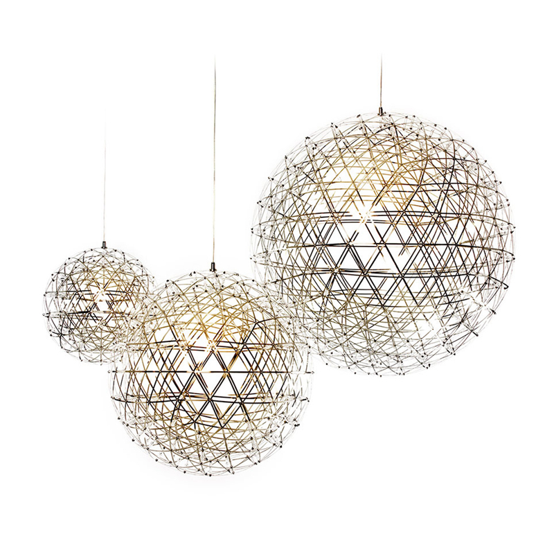 Bjornled Stainless Steel ball shape Pendant Lamp Dia.30cm Creative droplight LED Firewor ...