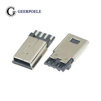 GP 10 unids/lote de conectores delanteros 5P detrás de 4P, 4P, 30V, 1,5a, MINI USB, conector macho, enchufe trasero, terminales eléctricos