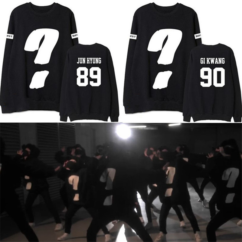 KPOP Hoodies BEAST B2ST Beauty Gi Kwang Album 2016 Winter Warm Cotton Coat Long Sleeve O ...