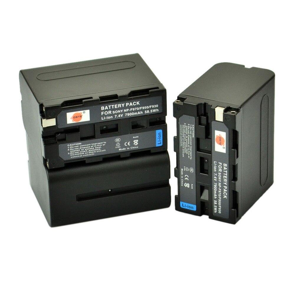 DSTE Bateria np-f970 para Sony DCR-VX1000 3 pcs NP-F970 VX2000 VX2100 VX2200E VX700 DSC-CD100 CD250 CD400 D700 D770 Câmera