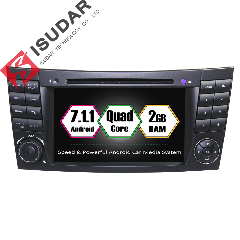 Android 7 1 2 Din 7 Inch Car DVD Player For Mercedes Benz E Class W211