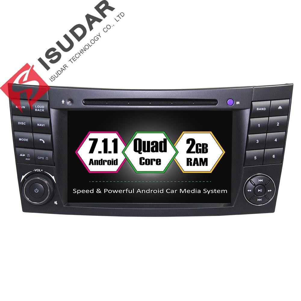 imágenes para Android 7.1 2 Din 7 Pulgadas de Coches Reproductor de DVD Para Mercedes/Benz/E-class/W211/E300/CLK/W209/CLS W219/RAM 2G WIFI GPS de Navegación de Radio