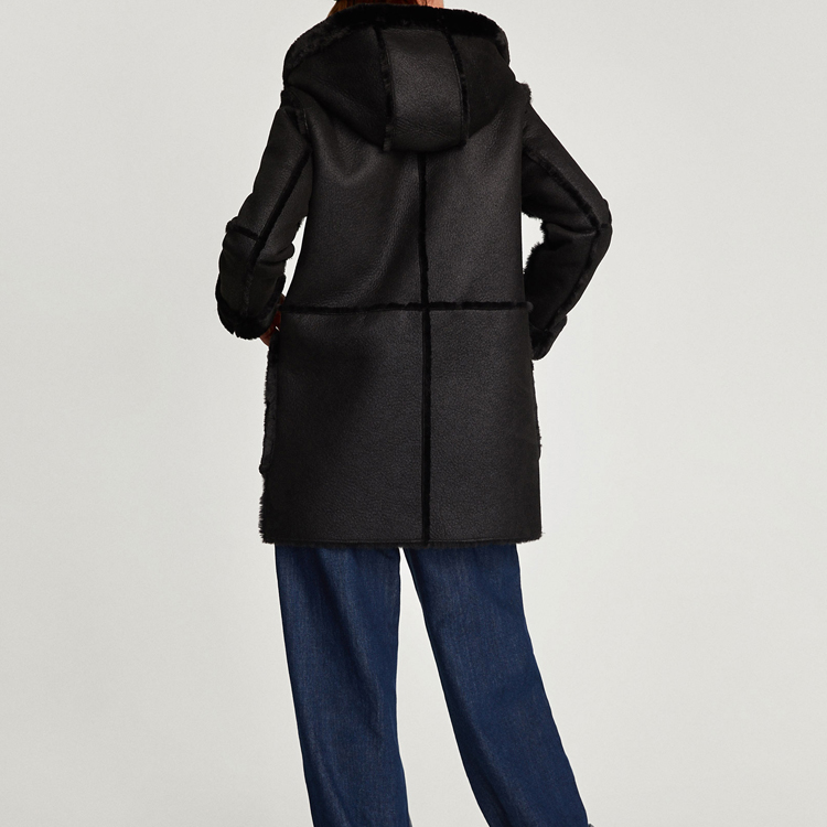 longueur Manches Qualité Ab En Fourrure Porter Noir Mi Femmes Fausse Lâche Bonne Hiver Unique Longues Style Chaud Pour De 2017 Veste Poitrine PFfUgqn