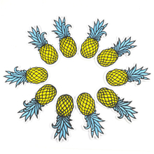 10Pcs Pineapple Patches For Clothing Iron On Applique Embroidered Stickers Clothes Patch Fabric Badge DIY Apparel Repair