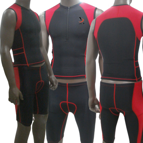 New Arrivals Men's Triathlon Skin Suit Tri Sleeveless Compression Skin Tight Suit Color Black for Cycling Racing Training color image compression