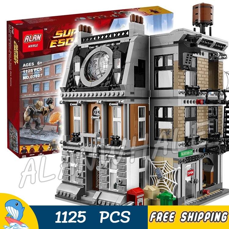 1125pcs Super Heroes Avengers Sanctum Sanctorum Showdown Street corner 10840 Model Building Blocks Toys Compatible With legos