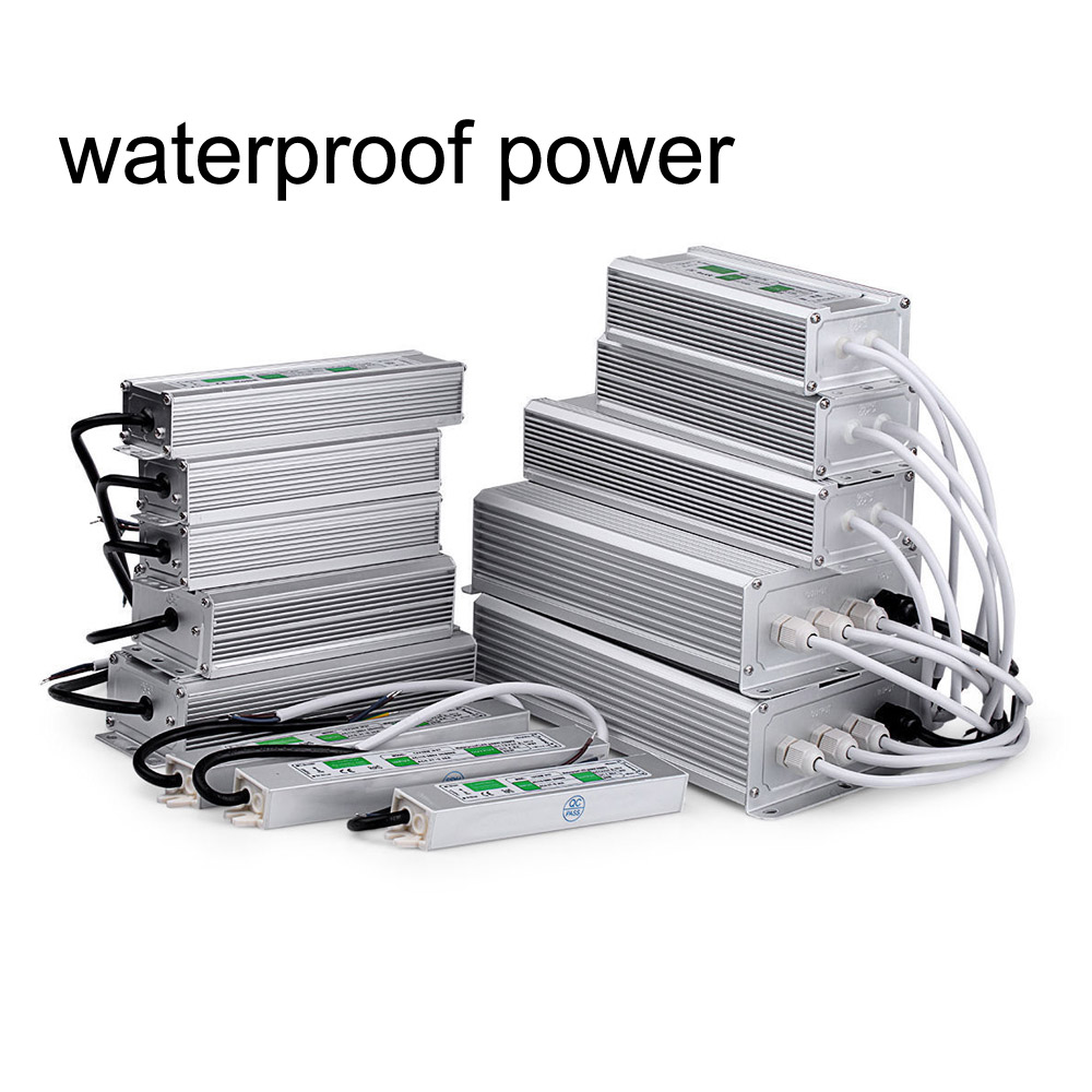 Outdoor Waterproof IP67 LED Driver AC 110V 220V 230V to DC 12V 24V 10W 20W 30W 60W 100W 150W LED strip Power Supply Transformers led driver transformer waterproof switching power supply adapter ac170 260v to dc48v 200w waterproof outdoor ip67 led strip