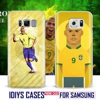 Ronaldo El Fenomeno Brazil Coque Phone Case Shell Cover Bag For Samsung Galaxy S4 S5 S6