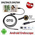 2MP HD720P 8mm Android USB Endoscope Camera 1M/2M/3.5M/5M Waterproof OTG Flexible Snake USB Andorid Borescope Camera 6LED