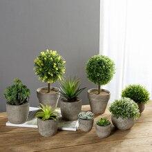 Эритрина море мини искусственный; в горшке суккулентные растения бонсай набор поддельные ваза для цветов декоративное цветочное украшение для домашнего балкона