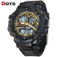 2016 New O T S Luxury Brand Men Military Sports Fashion Casual Watches Dual Time Digital