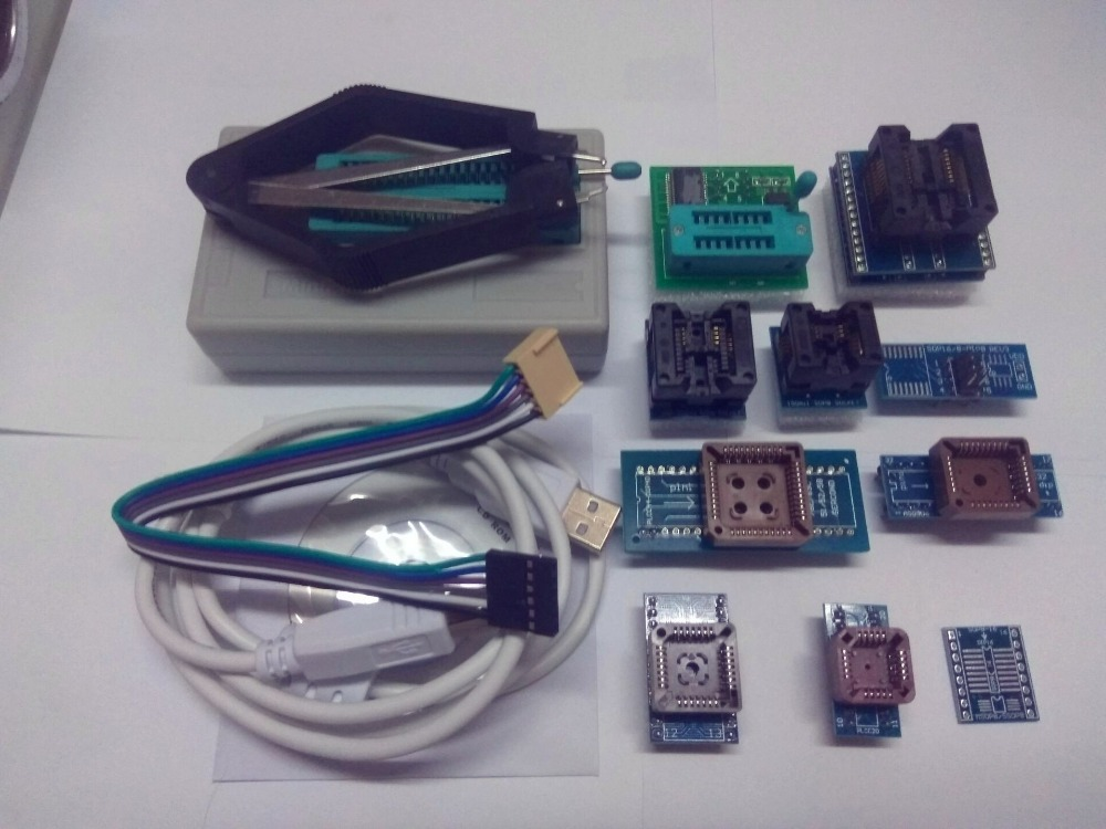 ФОТО Free Shipping V6.5 TL866A Prgrammer USB Universal Programmer /Bios/ECU Programmer+9 adapter+V1.8+PL clip