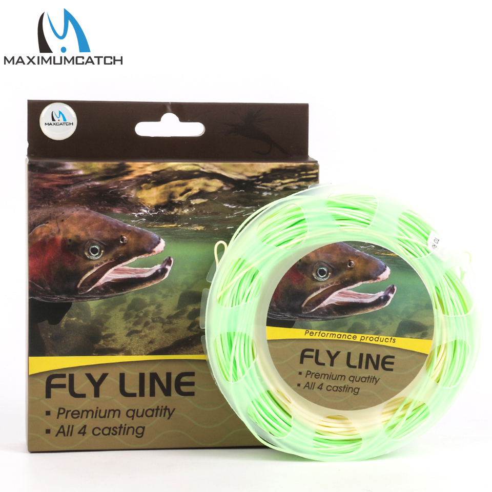 Maximumcatch 100FT WF4/5/6/7/8F Switch Fly Fishing Line Weight Forward Floating Fly Line With Two Welded Loops Fishing Line maximumcatch 100ft wf4 5 6 7 8f switch fly fishing line weight forward floating fly line with two welded loops fishing line